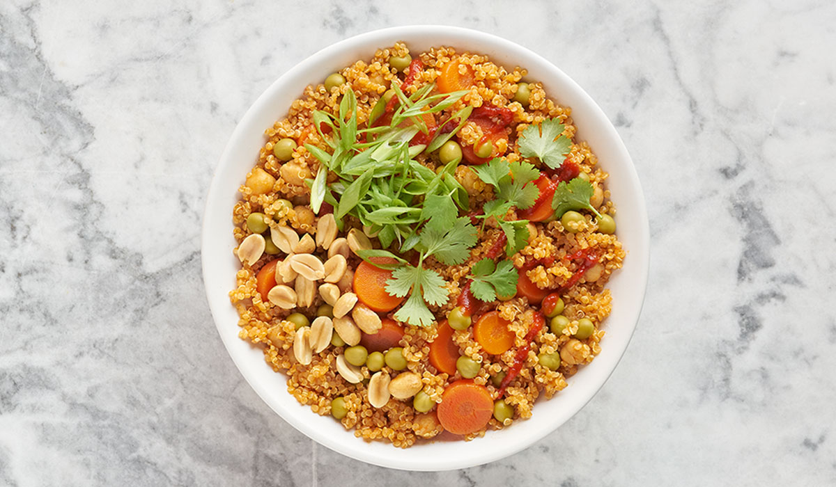 Quick Coconut Quinoa Curry Bowls