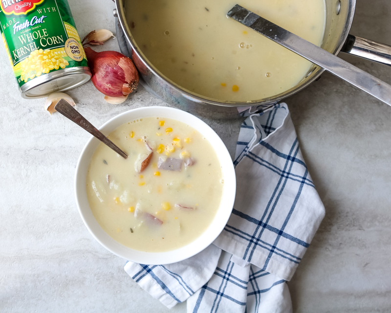 30 Minute Healthy Corn and Potato Chowder