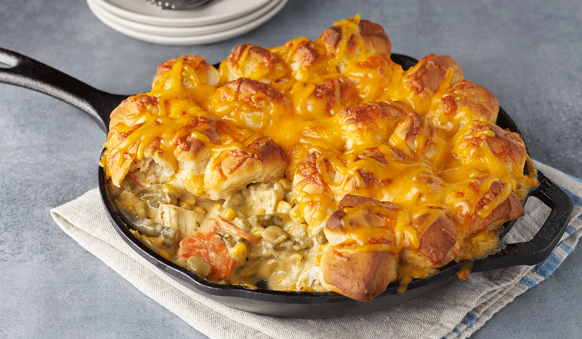 Creamy Chicken & Biscuits Bake