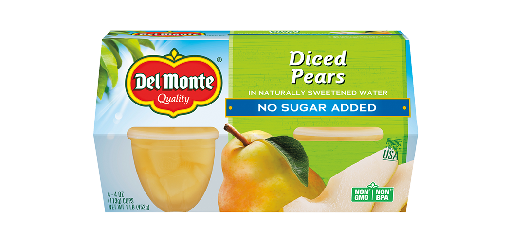 Pears Fruit Cup® Snacks - No Sugar Added