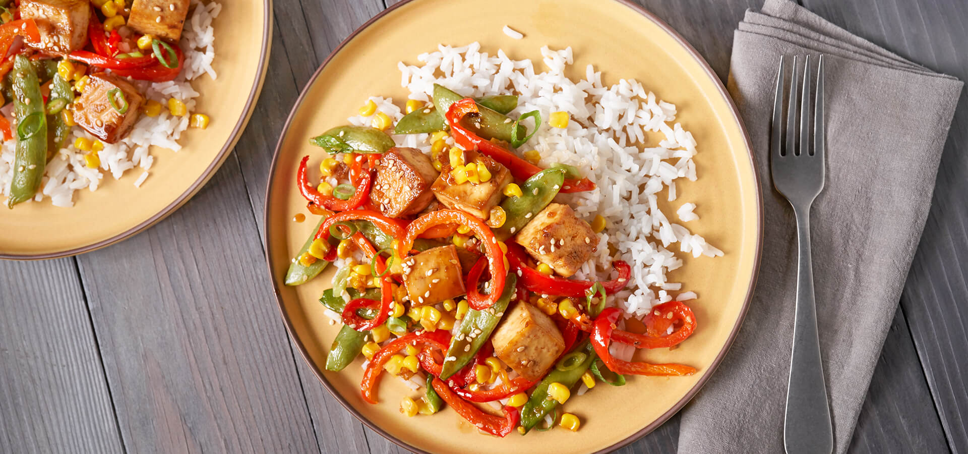 Sheet Pan Teriyaki Tofu Stir Fry