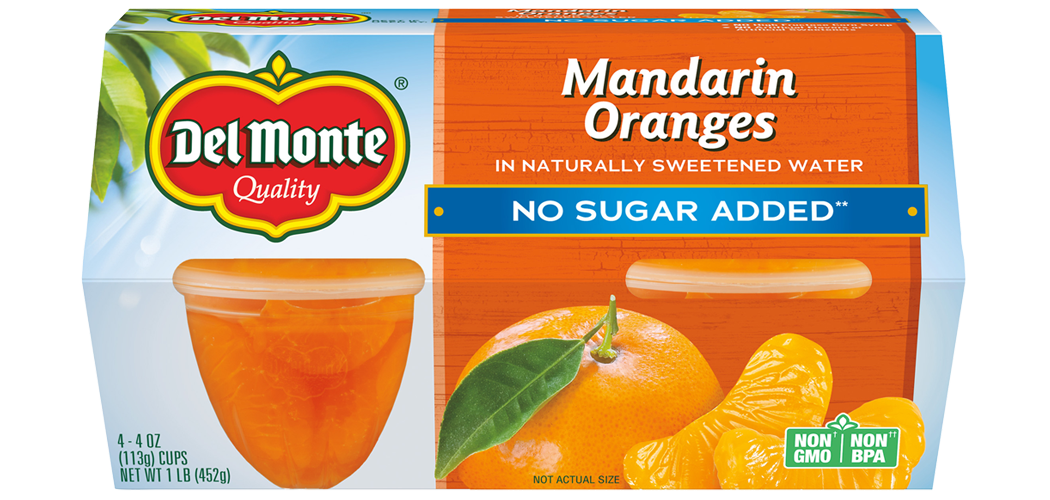 Mandarin Oranges - No Sugar Added, Fruit Cup® Snacks
