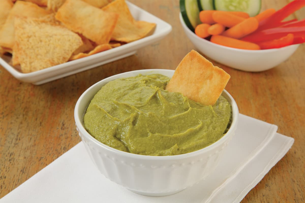 Avocado-Lime Pea Dip