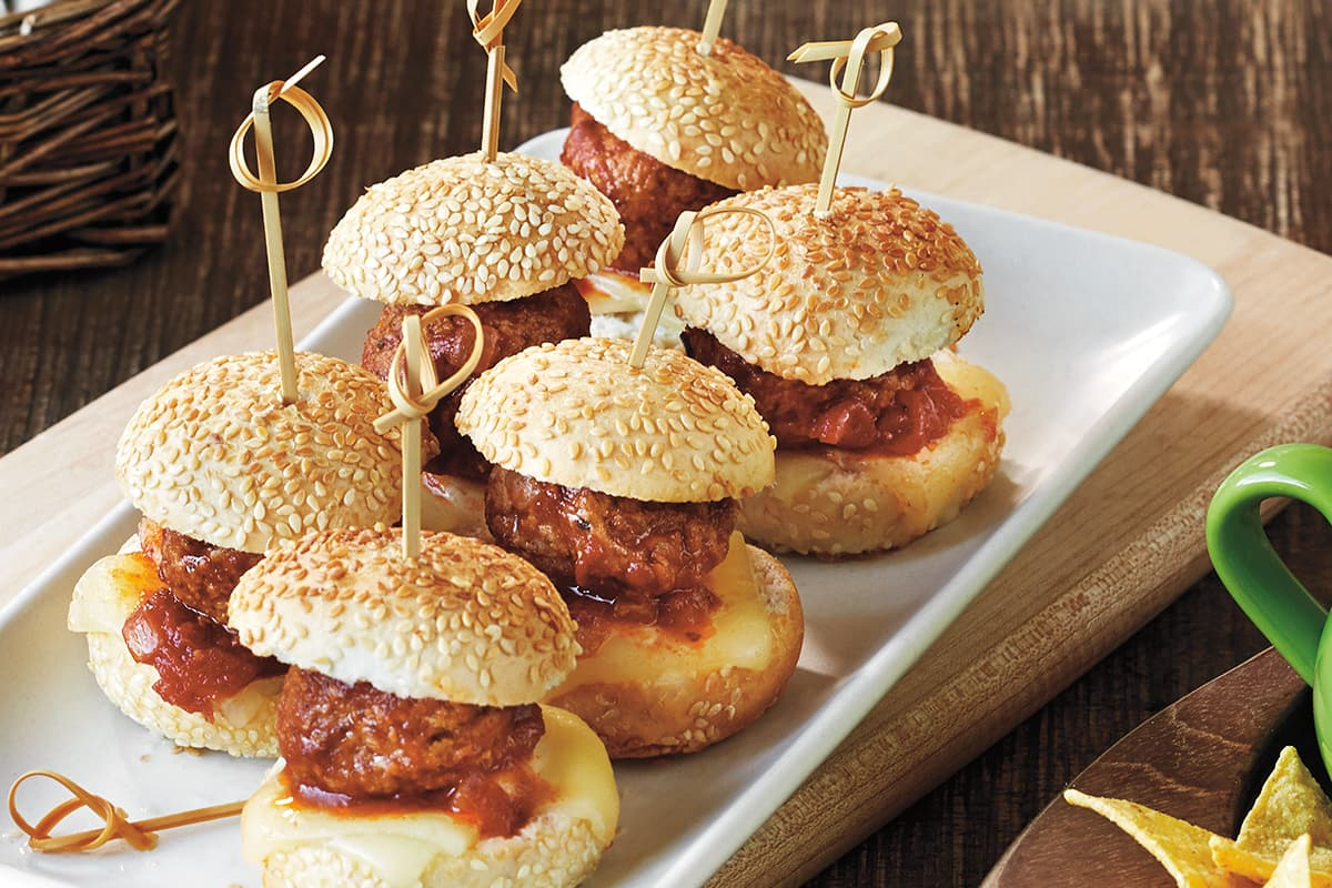 Balsamic Tomato Meatball Sliders