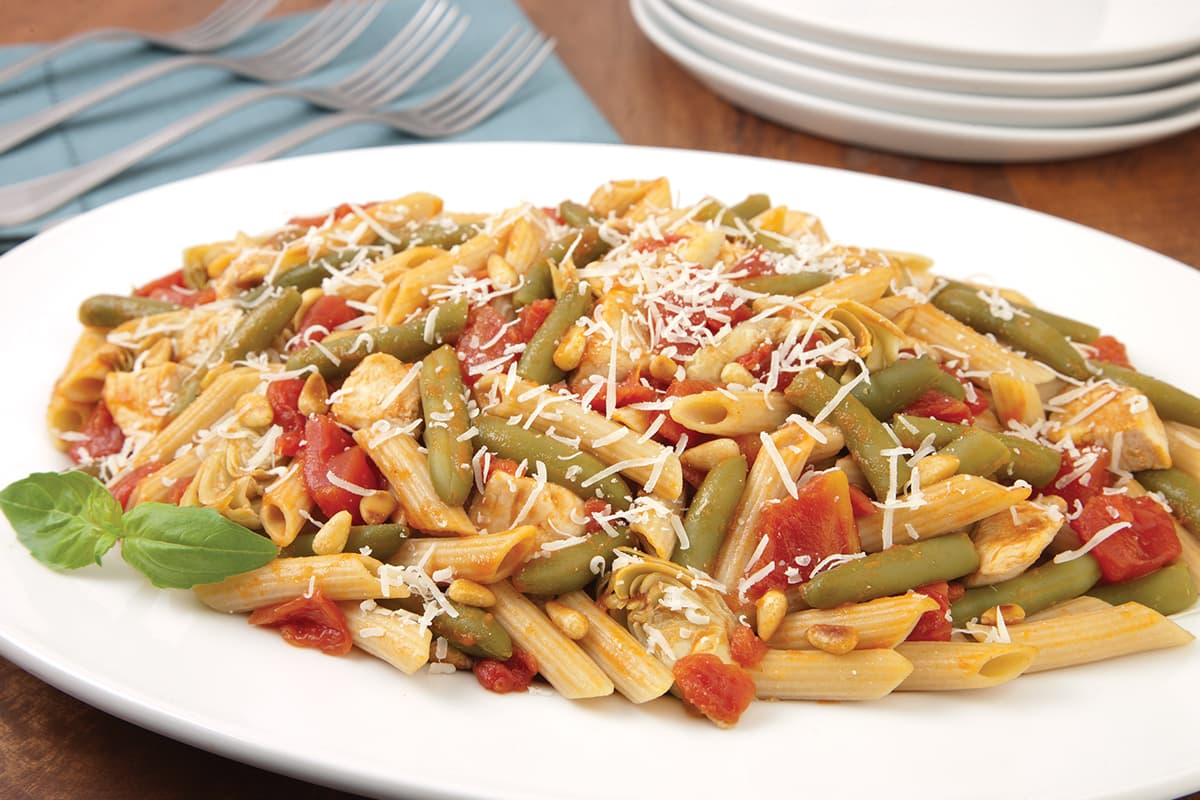 Quick Chicken-Artichoke Penne Pasta Recipe