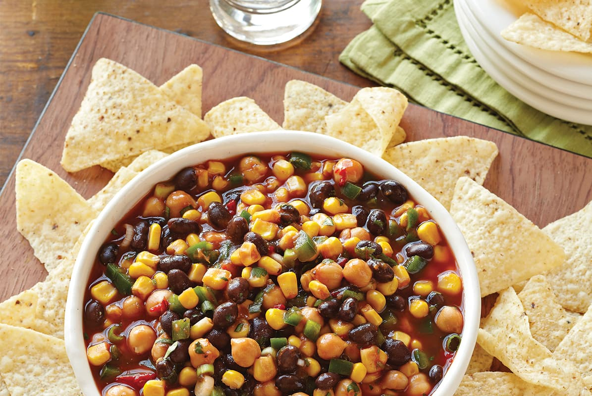 Confetti Corn and Bean Salsa with Jalapeño