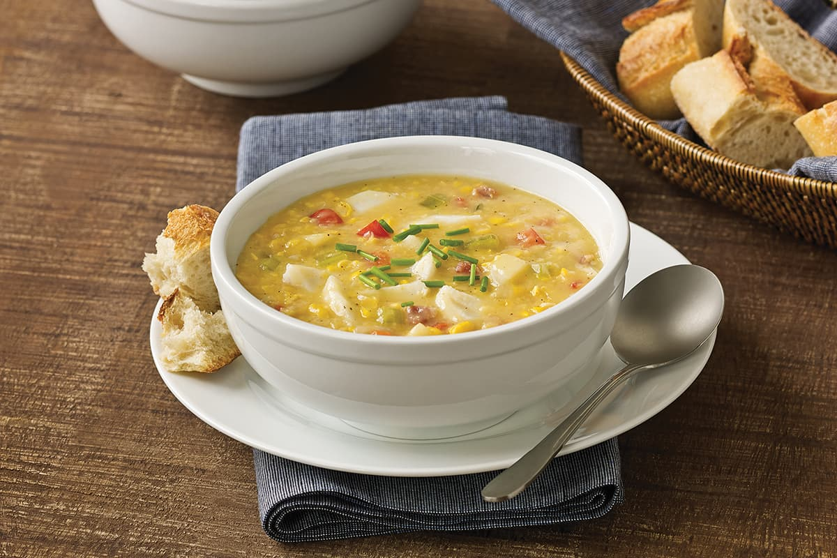 Corn-Pepper Fish Chowder