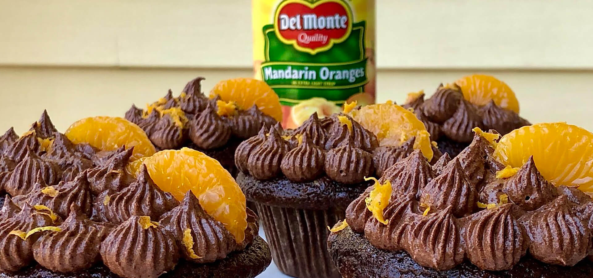 Chocolate Mandarin Orange Cupcakes