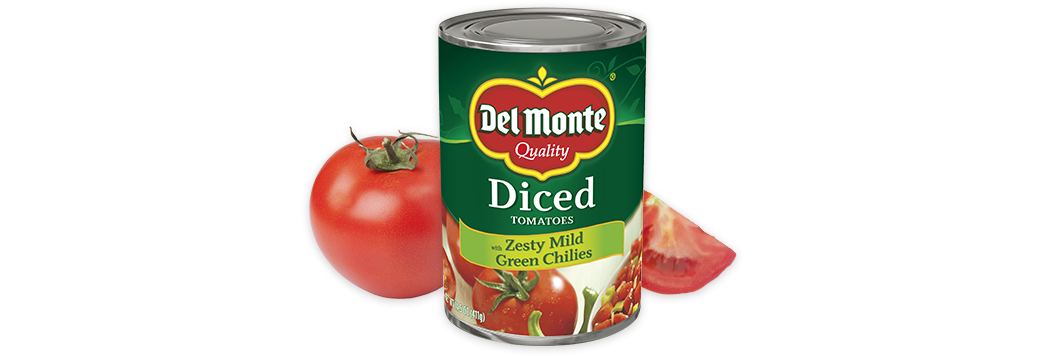 Diced Tomatoes with Zesty Mild Green Chilies