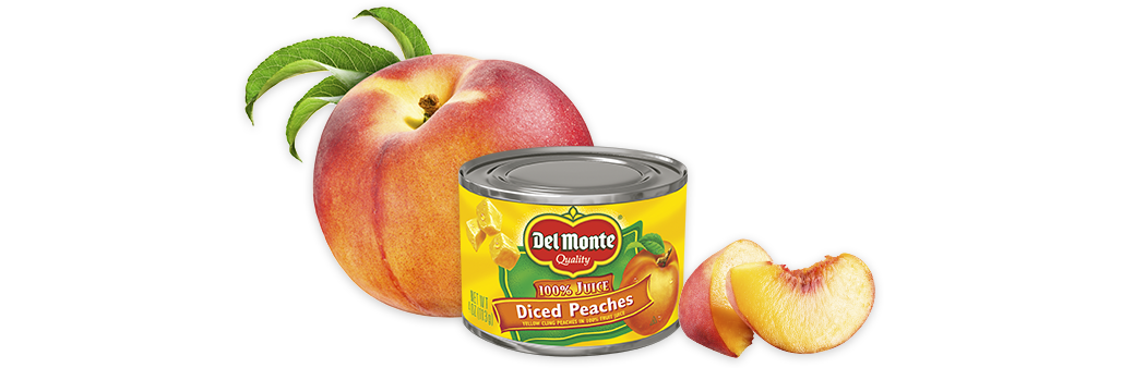 Diced Yellow Cling Peaches in 100% Juice