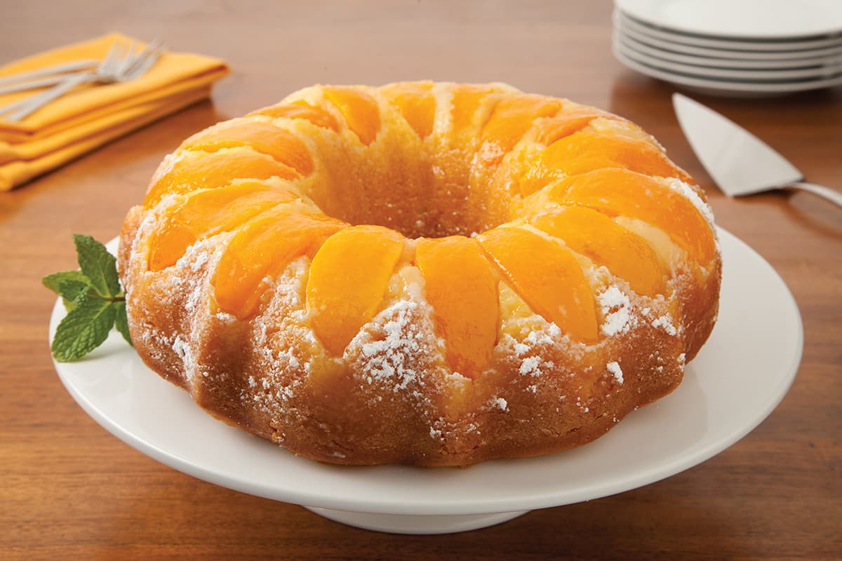 Double Peach Pound Cake