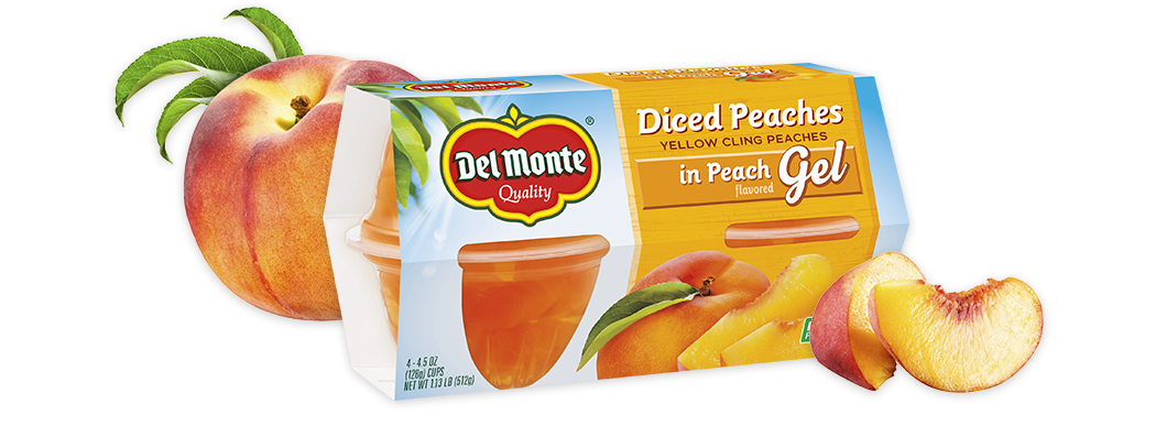 Peaches in Peach Flavored Gel, Fruit Cup® Snacks