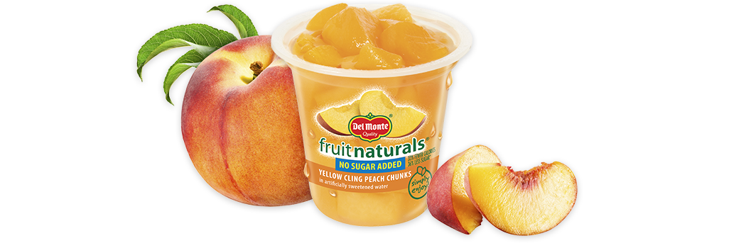 Fruit Naturals® Yellow Cling Peach Chunks - No Sugar Added