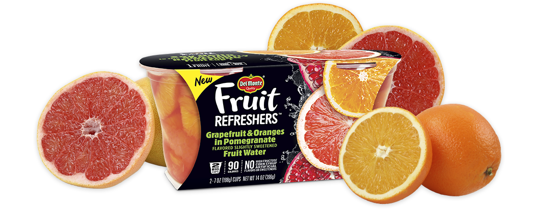 Fruit Refreshers™ Grapefruit & Oranges in Pomegranate Flavored Slightly Sweetened Fruit Water