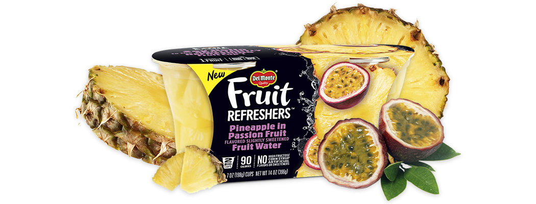 Fruit Refreshers™ Pineapple in Passion Fruit Flavored Slightly Sweetened Fruit Water