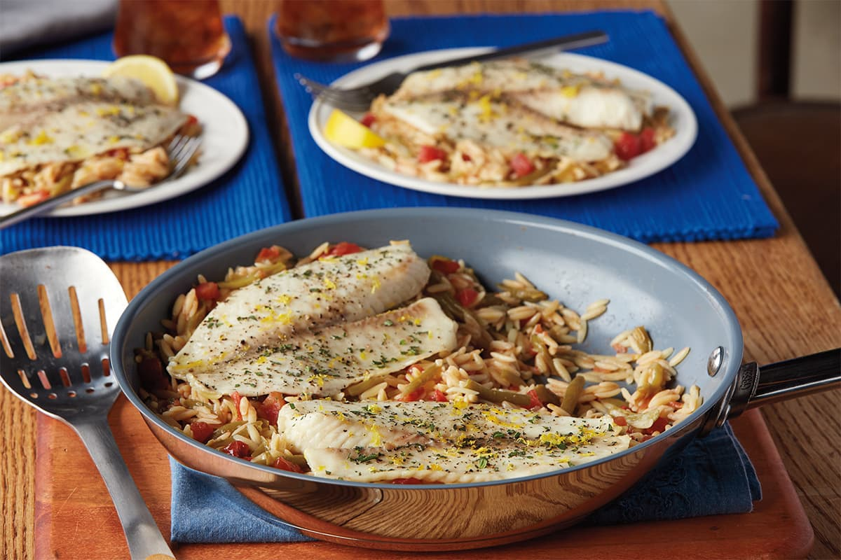 Lemon & Herb Fish Skillet