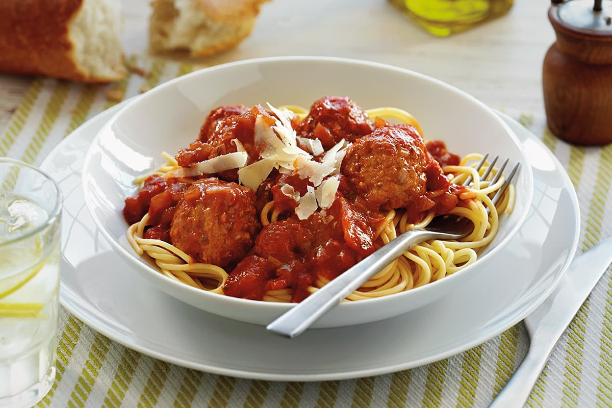 Meatballs in Tomato Balsamic Sauce
