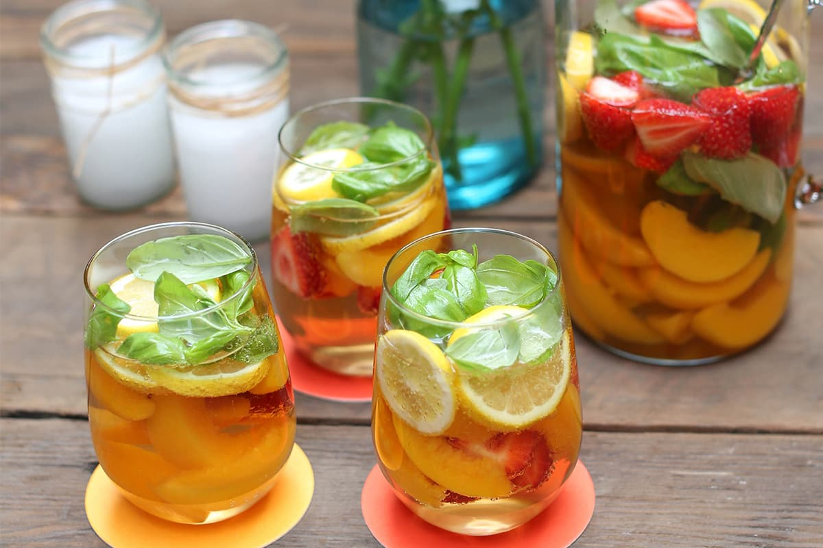 Mock Strawberry Peach Sangria
