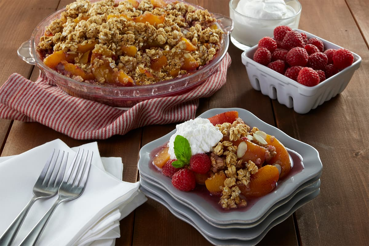No Bake Peach Crisp