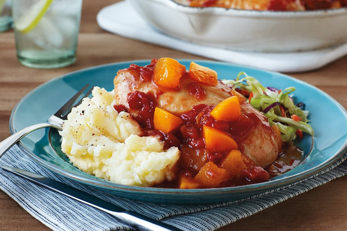 Peach BBQ Glazed Chicken