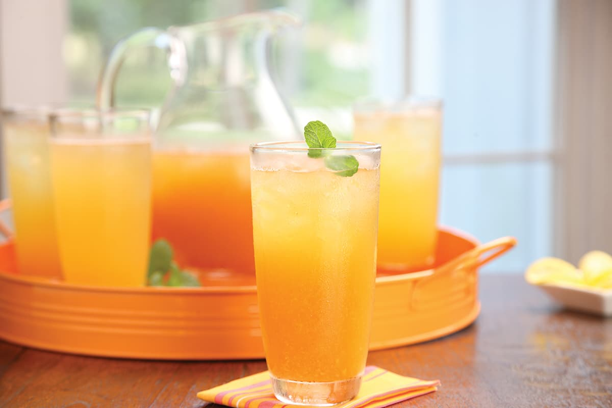 Peach-Mint Iced Tea