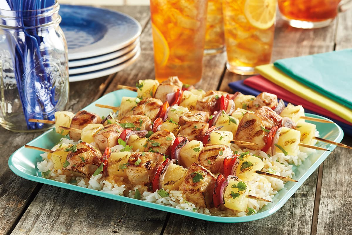 Pineapple Chicken Skewers