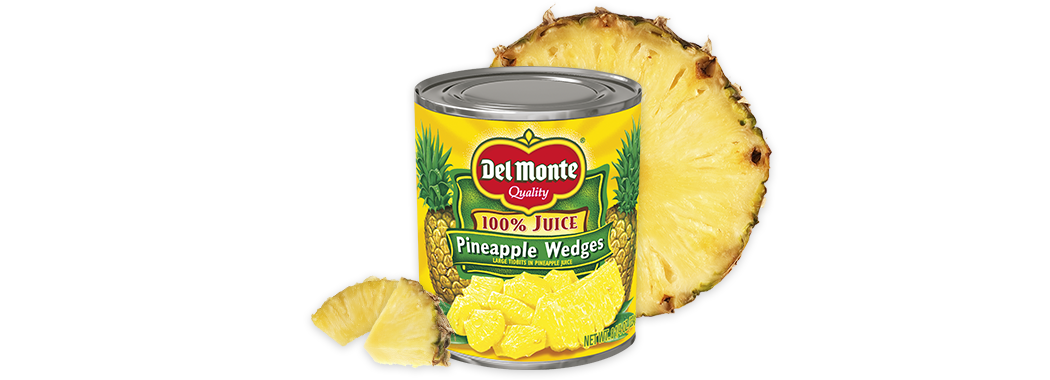 Pineapple Wedges in 100% Juice