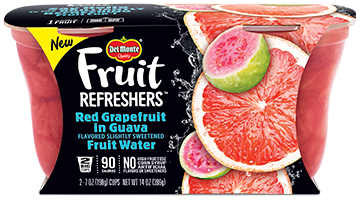 Fruit Refreshers® Red Grapefruit in Guava Flavored Slightly Sweetened Fruit Water