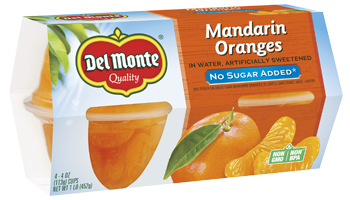 Mandarin Oranges Fruit Cup® Snacks with No Added Sugar