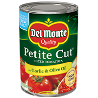 Petite Cut® Diced Tomatoes with Garlic & Olive Oil