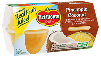 Pineapple in Coconut Flavored Light Syrup, Fruit Cup® Snacks