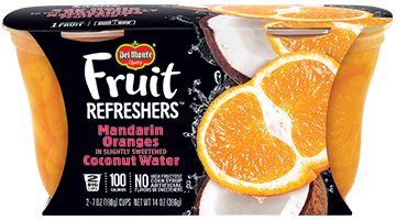 Fruit Refreshers® Mandarin Oranges in Slightly Sweetened Coconut Water