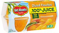 Diced Peaches in 100% Juice, Fruit Cup® Snacks