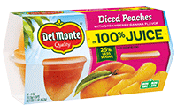 Peaches With Strawberry-Banana Flavor in 100% Juice, Fruit Cup® Snacks
