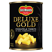 Del Monte® Deluxe Gold Pineapple Tidbits in 100% Pineapple Juice