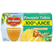 Pineapple Tidbits Fruit Cup® Snacks - 100% Juice