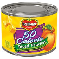 Diced Yellow Cling Peaches - Lite