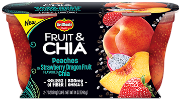 Fruit & Chia™ Peaches in Strawberry Dragon Fruit Flavored Chia
