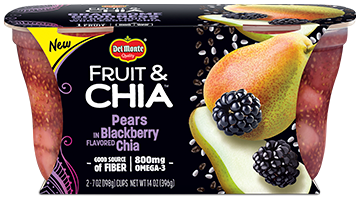 Fruit & Chia™ Pears in Blackberry Flavored Chia