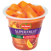 SuperFruit® Peach Chunks in Pomegranate & Orange Juice Blend