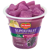 SuperFruit® Pear Chunks in Acai & Blackberry Juice Blend