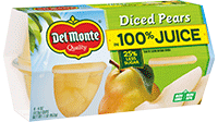 Diced Pears in 100% Juice, Fruit Cup® Snacks