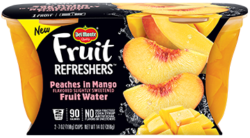 Fruit Refreshers™ Peaches in Mango Flavored Slightly Sweetened Fruit Water