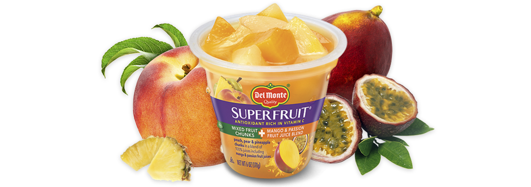 SuperFruit® Mixed Fruit Chunks in Mango & Passion Fruit Juice Blend