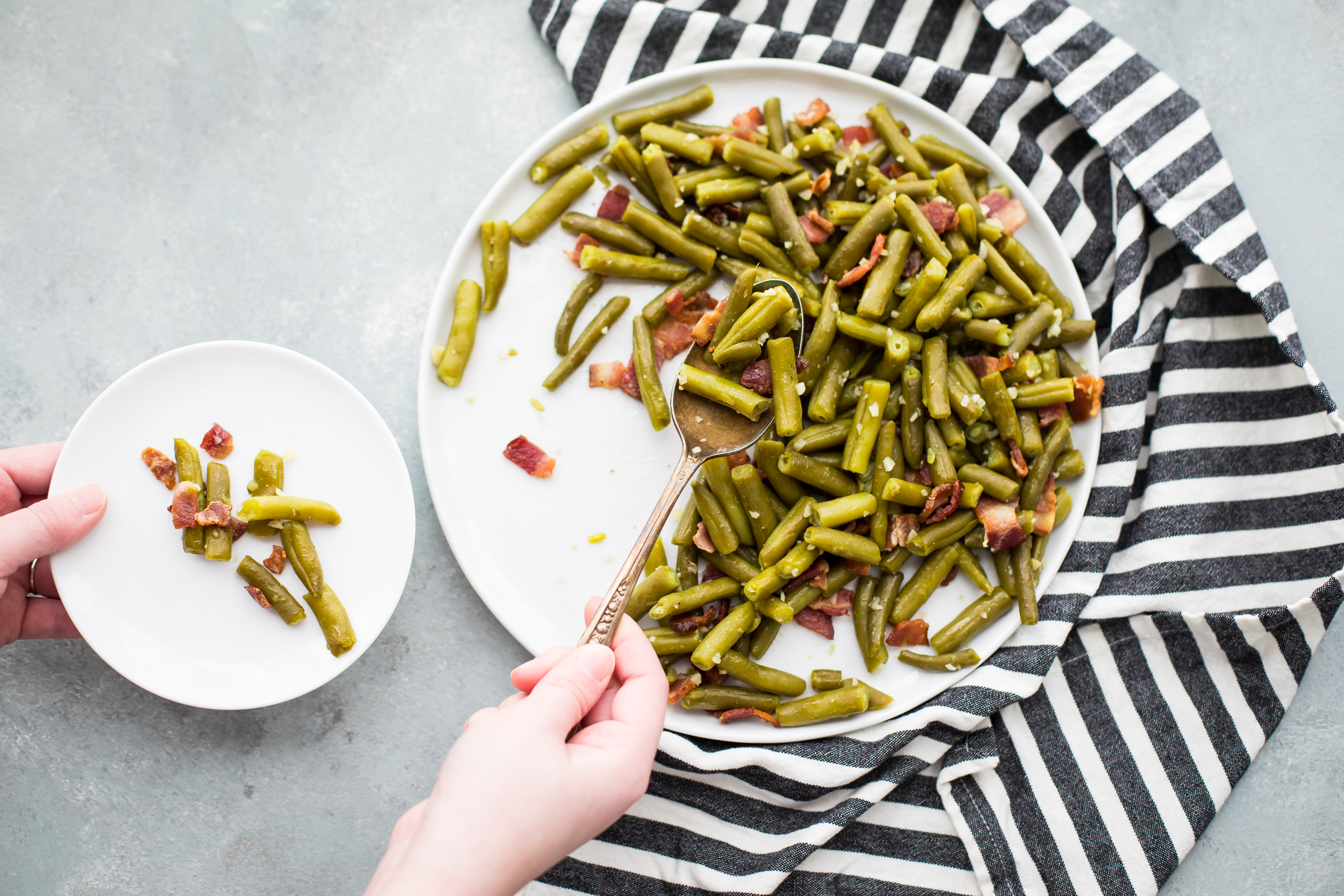Whole30 Bacon Garlic Green Beans